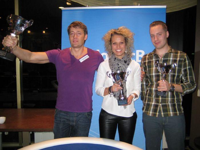 Turniiri esikolmik (vasakult) - Morten Erlandsen, Pernille Ravn ja Henric T.
