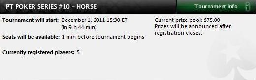 HORSE estreia-se no PT Poker Series hoje 101