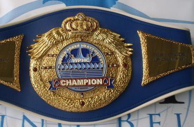 The World Poker Heavyweight belt. Picture courtesy of Poker Farm.