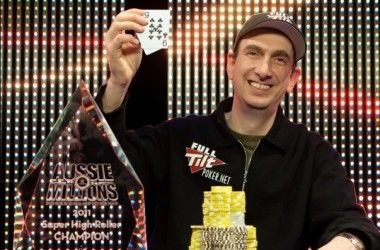 Erik Seidel kunne juble for $2 500 000 i premie ved Aussie Millions 2011 Super High-Roller.