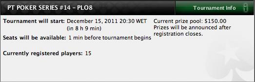 PT Poker Series 2011: Etapa PLO Hi/Lo de  hoje à noite 102