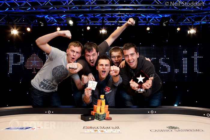 Andrey Pateychuk after his EPT San Remo victory