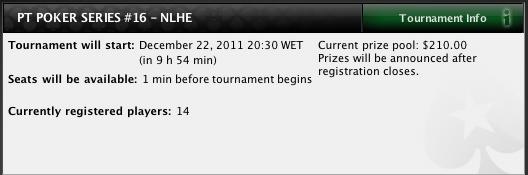 PT Poker Series 2011: Etapa #16 é de NLHE na PokerStars 102