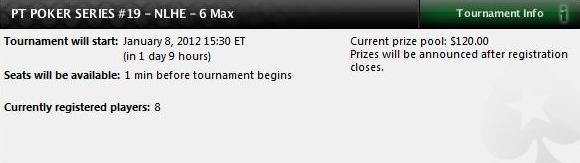 NLHE 6-Max é a última etapa do PT Poker Series antes dos Mains 102