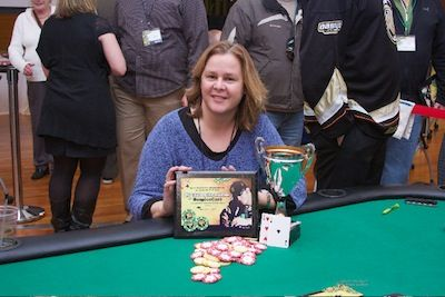 Winner of the charity event, Laura Schultz.