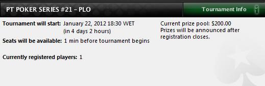 Main Event do PT Poker Series 2012 - Quem será o campeão de PLO? 101