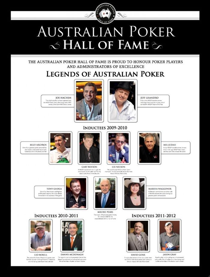 The Australian Poker Hall of Fame