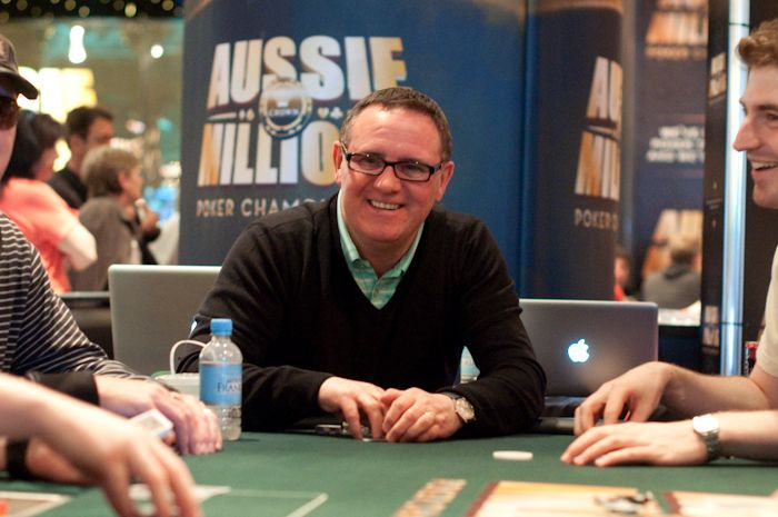 Willie Haughey during Day 1b of the Aussie Millions Main Event.