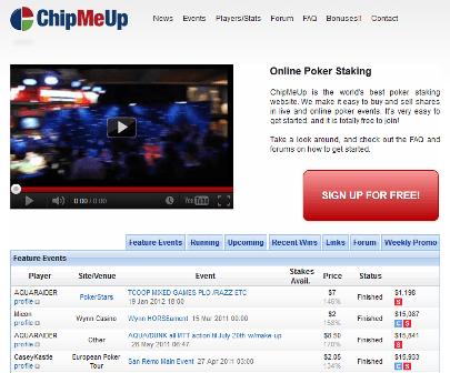 ChipMeUp - internetinė pokerio akcijų birža