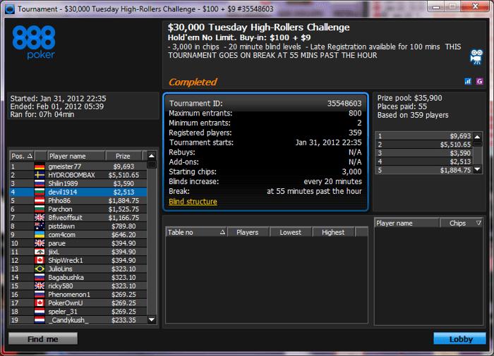 И пак LaMeRiX! Този път трето място в PokerStars The Big  за... 103