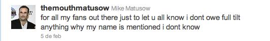 El Grupo Bernard Tapie pone una demanda contra Mike Matusow 101