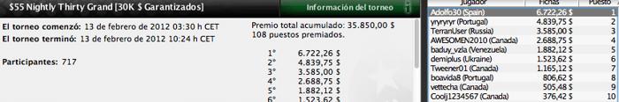 Pinchazos de los españoles del fin de semana en PokerStars 104