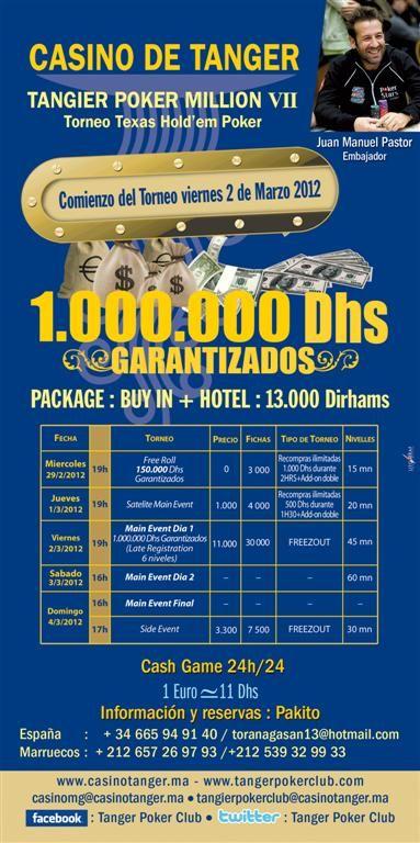 Programa del Tanger Poker Million