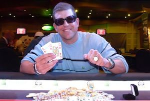 Rob Fenner, winner of $10,000 High Roller Event