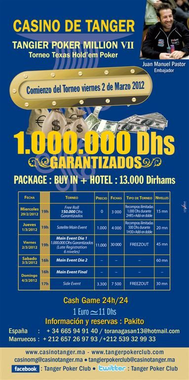 Carta del Tanger Poker Million VII
