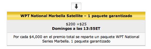 Consigue una entrada para el World Poker Tour National Series de Marbella 102