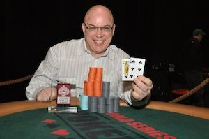Paul Gibbons, winner of Event #1