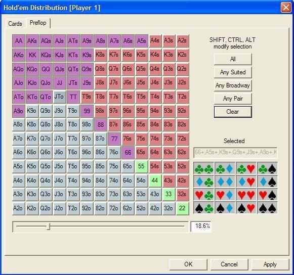 """""""Pokerstove""""- jūsų kortų kombinacijos stiprumo skaičiuoklė 104"""