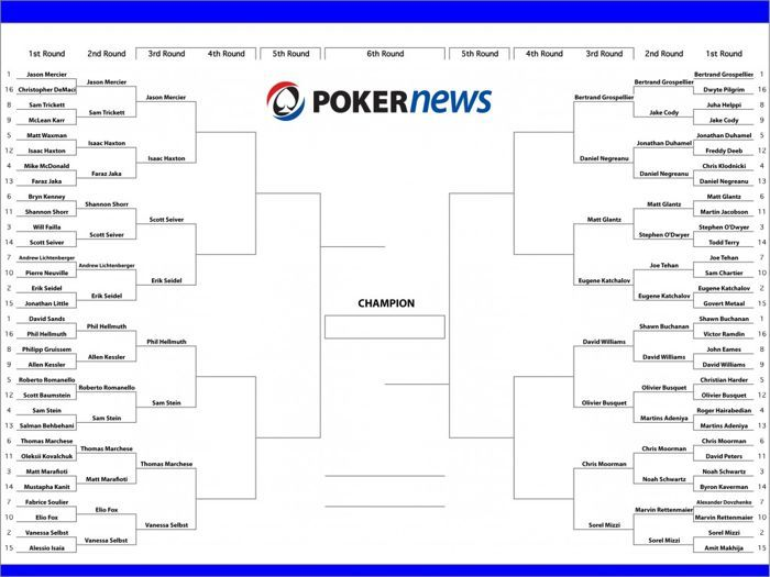 PokerNews Fan Bracket: Williams Over Buchanan; Mercier, Grospellier Only #1 Seeds Left 101