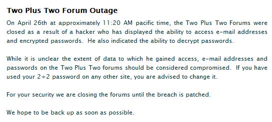 Oficiální vyjádření, které se v tuto chvíli nachází na uzavřeném fóru