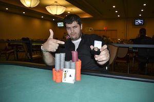 Abe Faroni, winner of Event #9.