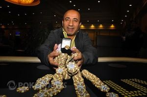 Freddy Deeb after winning the WSOP Circuit stop at the Bike.