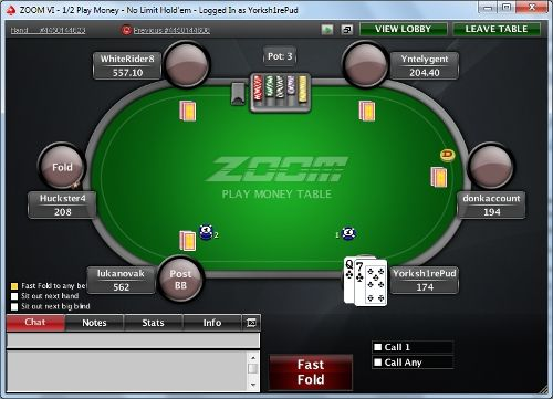 ZOOM Yourself to a Victory with PokerStars' Zoom Poker! 101