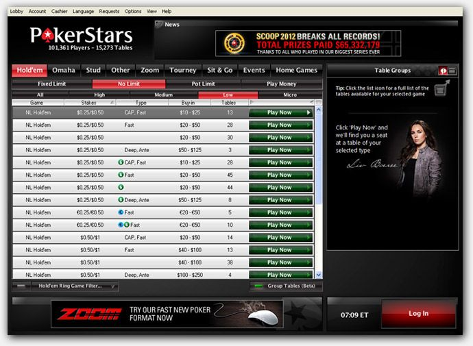 Нови функции и промени в софтуера на PokerStars 102