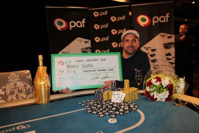 Paf Poker Challenge 2012 võitja Magnus Nygren