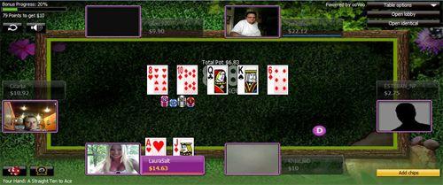 "888Poker kambario inovacija - ""Pokercam"" stalai"