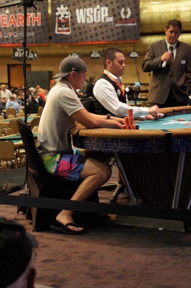 Brandon Schaefer and his lucky shorts