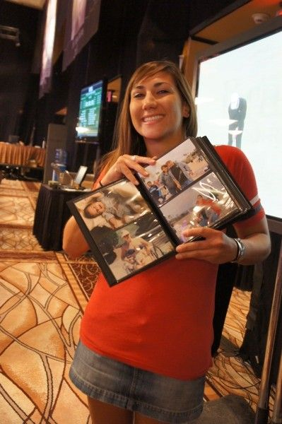 Jeanine Deeb and her father's day present