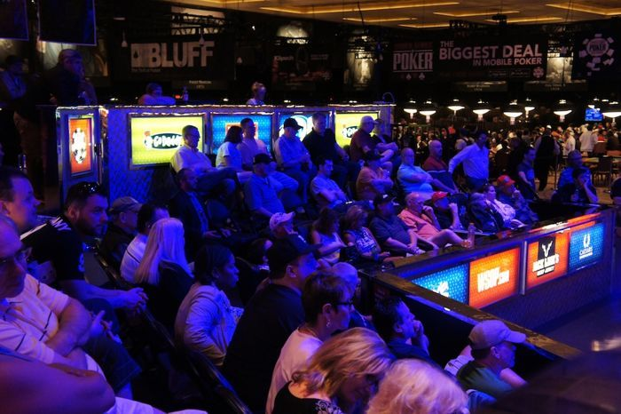 The seats are full at the Seniors Championship final table.