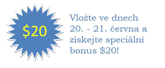 Speciální bonus  jen pro středu a čtvrtek! 101