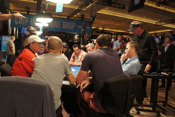 Bulychev awaiting his fate as the flop turn and river are dealt