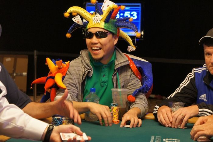 Kennii Nguyen decided to wear all three of his best hats for today's main event.