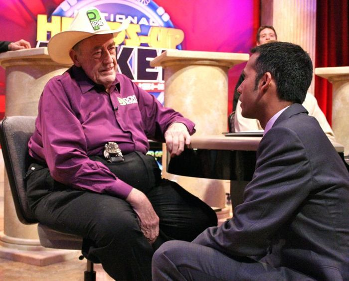 Ali Nejad interviewing Doyle Brunson