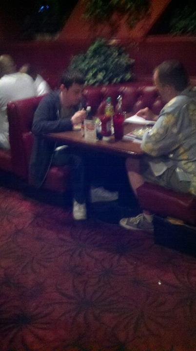 Tom Dwan having dinner with ???