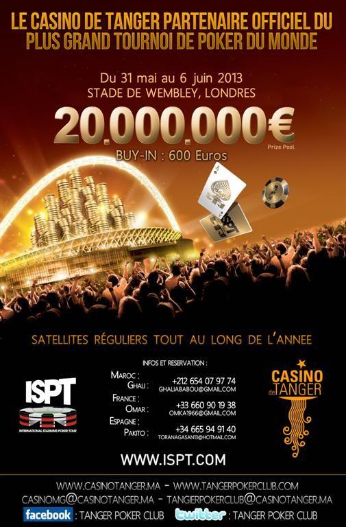 El Casino de Tánger repartirá paquetes para ir al ISPT de Wembley 101