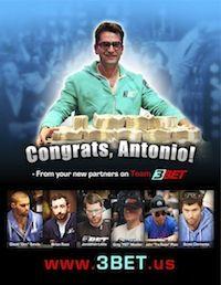 Antonio Esfandiari, Big One for One Drop Winner, Inks Sponsorship Deal with 3Bet Clothing 101