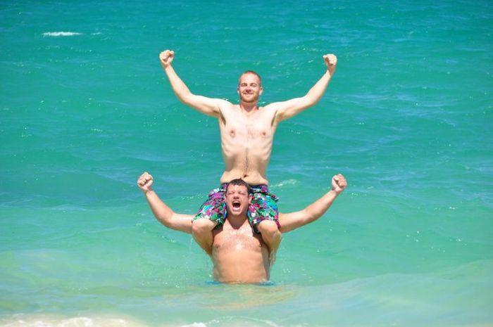 Steven op Hawaï met Remco van den Berg (augustus 2010)