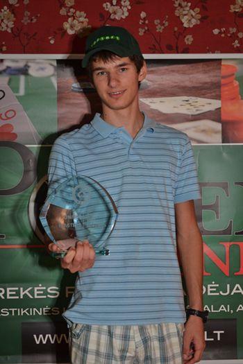 """""""Unibet Masters Palanga"""" pagrindinio turnyro čempionas Jokūbas Merkelis"""