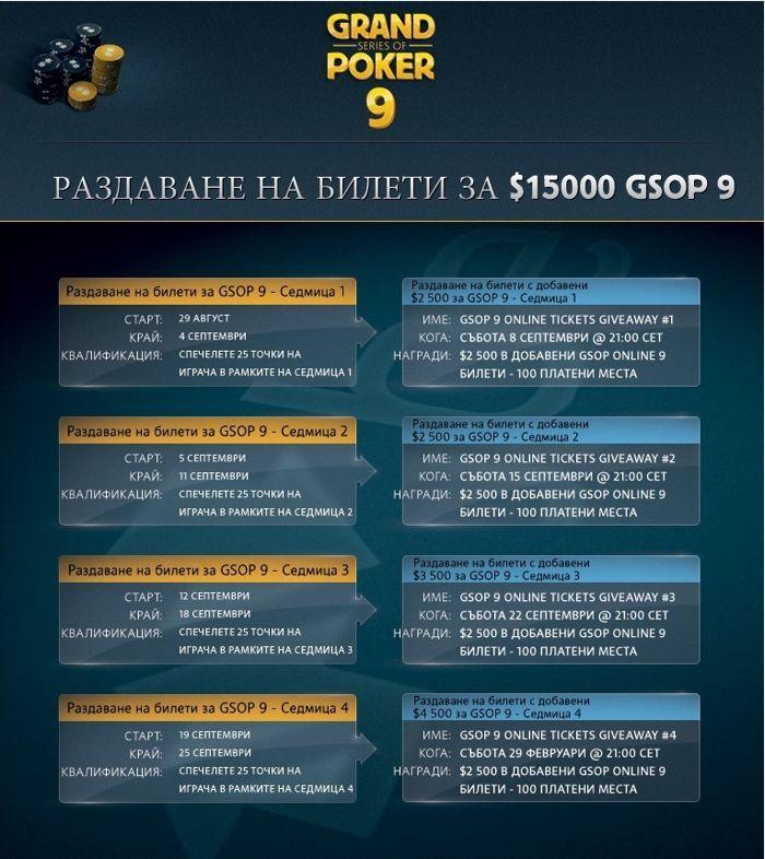 Betfair Poker раздава над ,000 в билети за Grand Series Of Poker 9 104