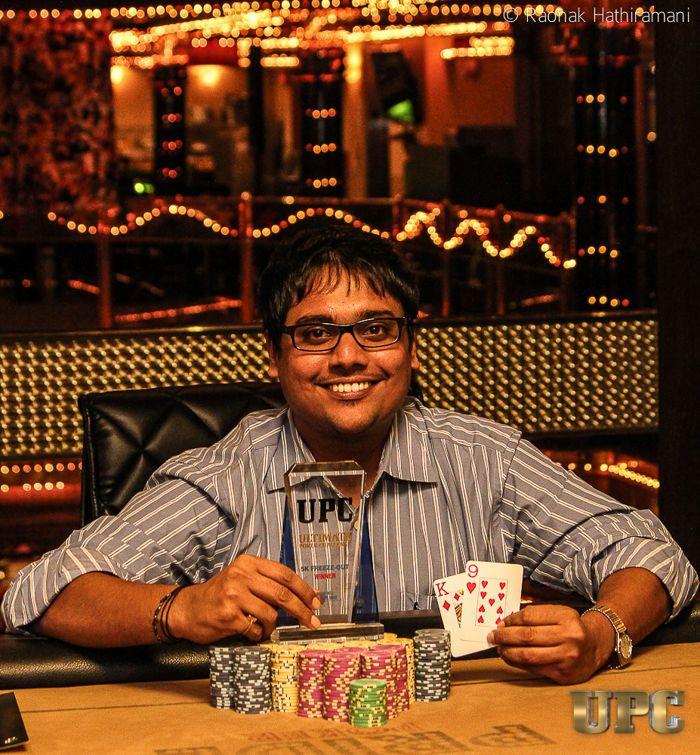 Susmit Patodia, winner of UPC 5k Freezeout