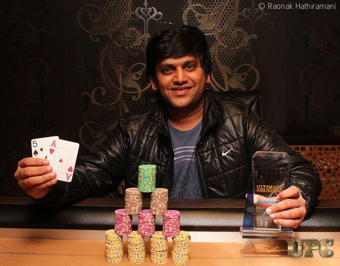Kavin Shah, winner of UPC 10k Freezeout