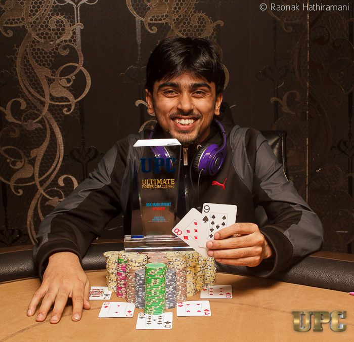 Shashank Siddharth wins Main Event at the Ultimate Poker Challenge 101