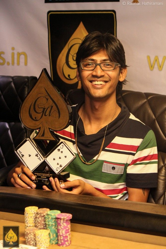 Krunal Chauhan, winner of 5k Rebuy event