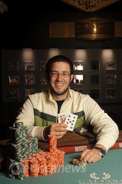 Merson after winning Event #57 $10,000 No-Limit Hold'em Six-Handed.