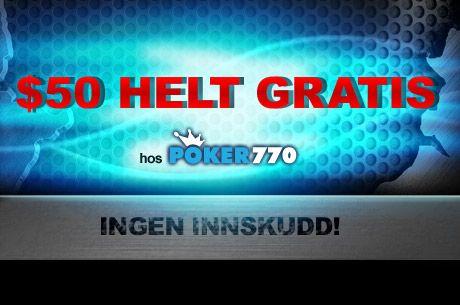 Glem ikke Magnificent 77 turneringen hos Poker770 klokken 19:00 GMT 101