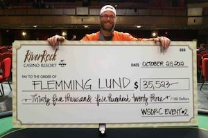 Flemming Lund, winner of Event #2